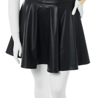 Plus Size Sexy Leather Black Skirt, Plus Size Clothing, Club Wear, Dresses, Tops, Sexy Trendy Plus Size Women Clothes