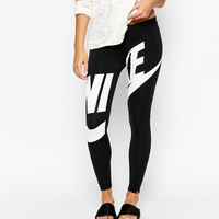 Nike Leg-A-See Leggings With Large Front Logo