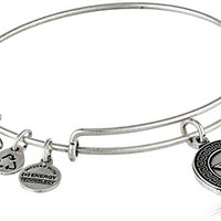 "Alex and Ani ""Sorority"" Sigma Kappa Expandable Rafaelian Silver Finish Wire Bangle Bracelet"