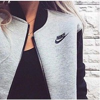 Fashion Women NIKE Zip Cardigan Jacket Coat