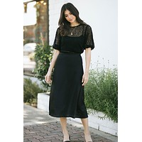 Jennifer Silky Midi Skirt