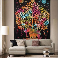 Home Decor Tapestry Wall Hanging Hippie Throw Bohemian Bedspread Cover Set Tapestries