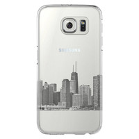 Chicago City Skyline USA Samsung Galaxy S6 Edge Clear Case S6 Case S5 Transparent Cover iPhone 6s plus Case