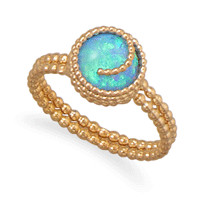 12/20 Gold Filled Synthetic Opal Ring
