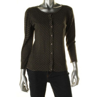 14th & Union Womens Juniors Polka Dot Button Front Cardigan Sweater