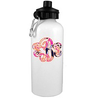 Pomegranate Monogram Water Bottle