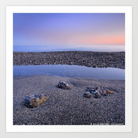 Calm at the beach. Serenity sea at sunset by Guido Montañés