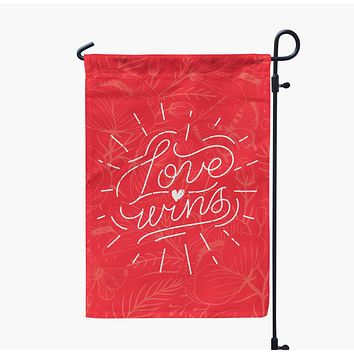 Love Wins Valentine's Day Garden Flag