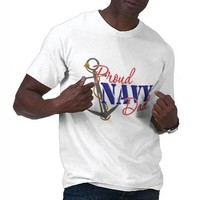 Proud Navy Dad Shirts from Zazzle.com