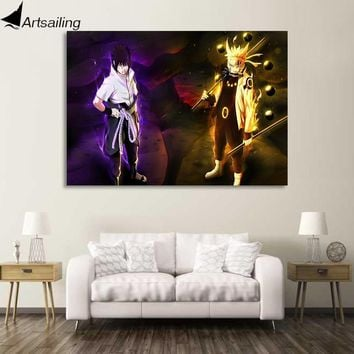 Naruto Sasauke ninja 1 piece canvas painting  and Sasuke HD anime posters and prints canvas painting for living room   XA1871D AT_81_8