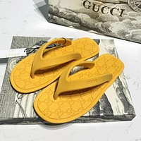 inseva GUCCI New Women Casual Pure Color Flat Flip Flops Slippers Sandals Shoes