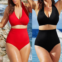 Plus Size Swimsuit High Waist