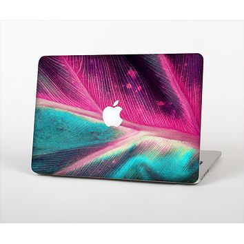 The Neon Pink & Green Leaf Skin Set for the Apple MacBook Air 13""