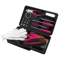 Pink 31 Piece Road Emergency Kit