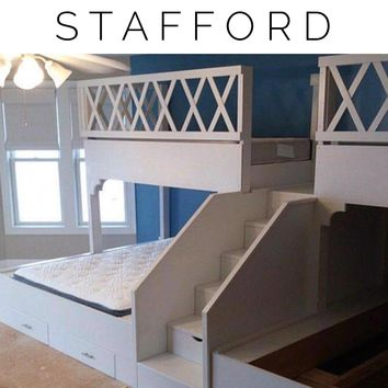 Stafford Adult bunk beds, Quad Bunkbeds for Adults