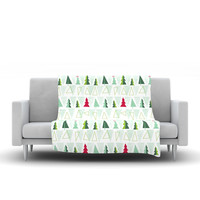 "Allison Beilke ""Pining for Christmas"" Christmas Holiday Fleece Throw Blanket"