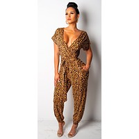 LEOPARD LADY JUMPSUIT