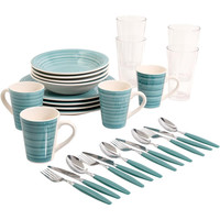 Fresh Swirls 28-Piece Combo Set- Red