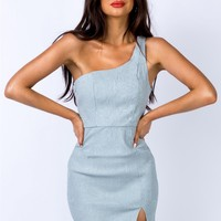 Rushka Mini Dress Blue | Princess Polly