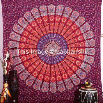 Indian Mandala Tapestries, Hippie Wall Tapestries, Dorm Bed Tapestries, Tapestry Wall Hanging, Bohemian Boho Tapestries, Beach Blanket Throw