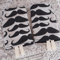 Teething Pads/Dribble/Drool Chew Pad For Baby Carriers/Ergo/Tula Moustache