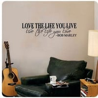 New Bob Marley Quote Wall Decals Decor Love Life Words Large Nice Sticker Text = 1706181636