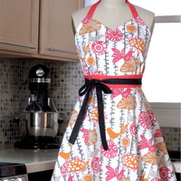 Spring Kitchen Apron Sweetheart Neckline Aprons by twodesigndivas