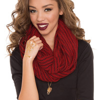 Easton Infinity Scarf - Red