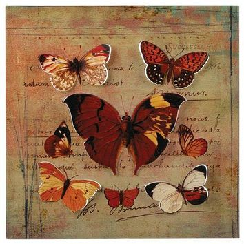Metal 3D Butterfly Wall Art with Handwriting