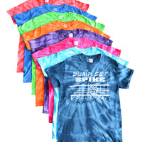 "Volleyball Tie Dye T-Shirt- ""Bump Set Spike"" Logo"