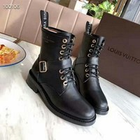 LV  Women Casual Shoes Boots  fashionable casual leather