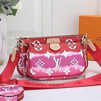 LV Louis Vuitton Women's Mahjong Bag Shoulder Bag Three-piece Set