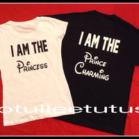 Disney Inspired Princess and Princess Charming Couples TShirts Perfect Fort that Trip To Disney