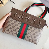 Gucci Fashion Women Leather Satchel Crossbody Shoulder Bag