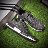 Best Online Sale Louis Vuitton LV x Adidas Consortium NMD R1 Black Sport Running Shoes Classic Casual Shoes Sneakers