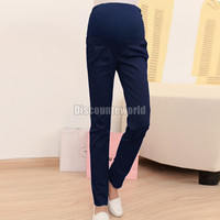 2016 Fashion New Women Pregnancy Maternity Over Bump Pencil Pants Trousers 4 Colors Size S-XL for Xmas