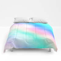 Rainbow Pastel Comforters by Whimsy Romance & Fun