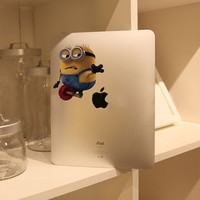 iPad Decal iPad 2 Stickers iPad Decals iPad Stickers Apple Vinyl Decal for Macbook Pro / Macbook Air / iPad - Despicable Me Minions