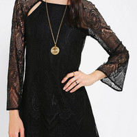 Lucca Couture Lace Bell-Sleeve Dress