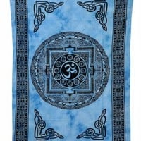 Indian Om Tapestry Hippie Wall Hanging Throw Bedspread Hippy Table Cloth 2674