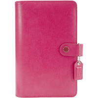 """Color Crush Faux Leather Personal Planner Binder 5.25""""""""X8""""""""-Dark Pink"""
