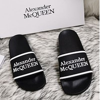 Alexander McQueen 2020 classic pattern flat shoes and slippers-8