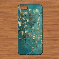 Van Gogh Flower iPhone 5 Case,Oil Painting Almond Tree iPhone 5 5s Hard Case,cover skin case for iphone 5/5s case,More styles for you choose