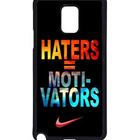 Nike Haters Motivation Nebula Galaxy  For Samsung Galaxy Note 4 Case *