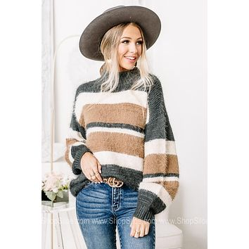 It's All Kind Of Fuzzy Striped Sweater