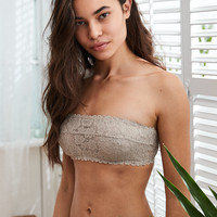 Happy Unlined Bandeau Bra , Strand