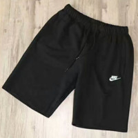 """NIKE"" Fashion Embroider Black Casual Beach Pants Summer Sports Cotton Shorts G-YF-MLBKS"