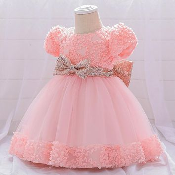 Dress for Girl Baby Party Girl Baby Clothing Toddler Clothes Infant Christening Gown First 1st Birthday Dress