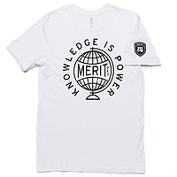 Knowledge is Power Tee - White/Black