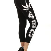 420 Leggings. 420 Marijuana Leggings. Weed Leggings.ON SALE NOW LIMITED